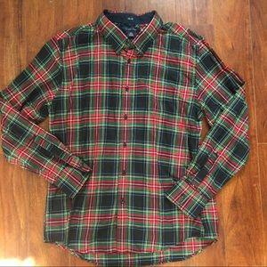 Tommy Hilfiger Plaid Button Down XL Shirt Red